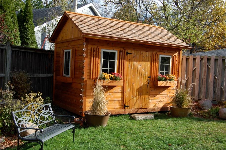 Cedar Garden Shed 1