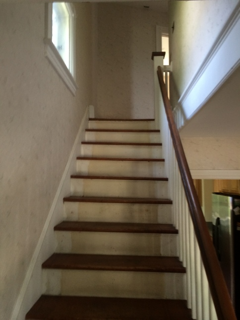 The staircase was worn down and in and needed to be completely refinished