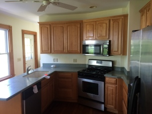 The kitchen on this project had recently been remodeled. The cabinetry, and layout remained the same but the countertops were replaced with new Granite.